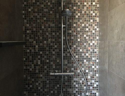 Vloer en- wandbekleding in badkamer